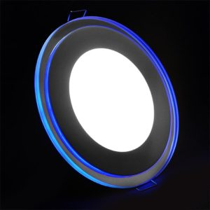 Blue and White Chrome LED Panel