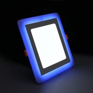 4 Slim Blue White Square Led Panel